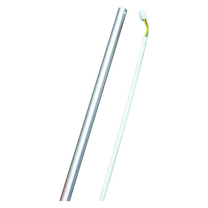 900mm Brushed Aluminium Ceiling Fan Extension Rod - DR36B