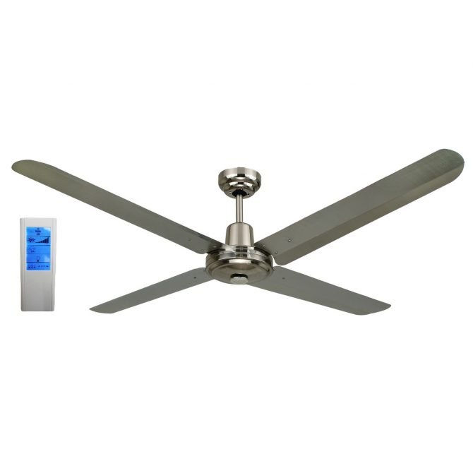 BLIZZARD52'' 1200mm 316SS Ceiling Fan + Touch Pad WH Remote - BLIZZARD52'' - TWHRem