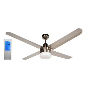 BLIZZARD56'' 1400mm 316SS Ceiling Fan with Light + Touch Pad WH Remote - BLIZZARD56''wl - TWHRem