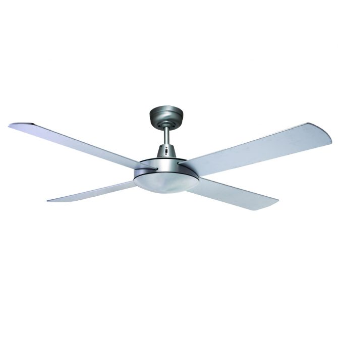 Genesis 52'' Brushed Aluminum Ceiling Fan - GEN52B