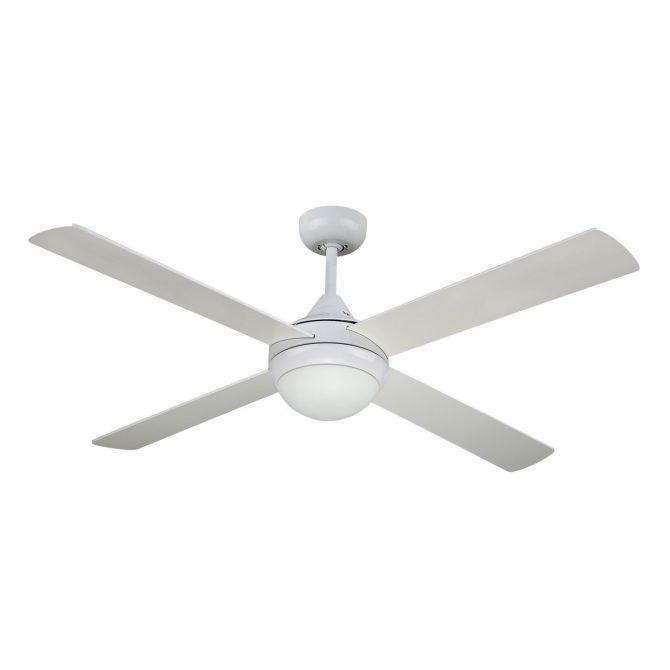 Revolve 48'' Ceiling Fan White 2xE27 Light - REV48WL
