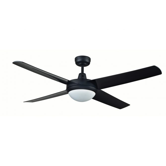 Genesis 52'' Series 2 Black Ceiling Fan with Light - GEN52BLKL2