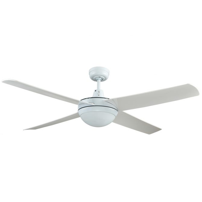 Genesis 52'' White Ceiling Fan with ABS Blades with Light - GEN52WL2