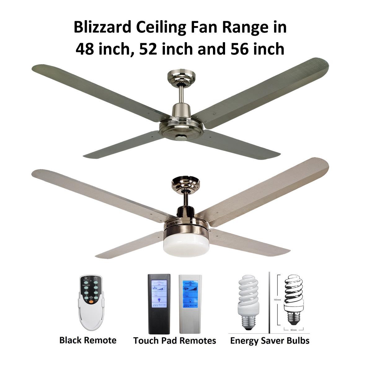 Ceiling fan bundle deals ceiling fan bargains blizzard 4 blade 316 marine grade stainless steel ceiling fan aloadofball Images