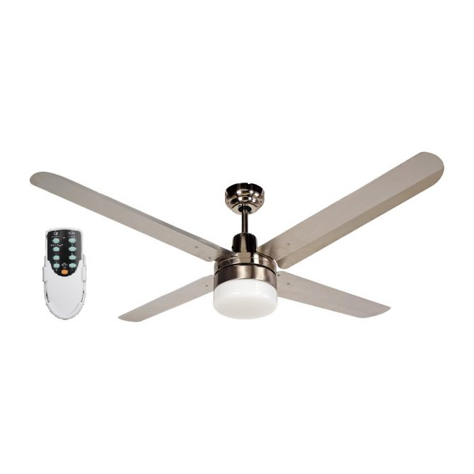 BLIZZARD52'' 1300mm 316SS Ceiling Fan with Light+ Remote - BLIZZARD52''wl - Rem