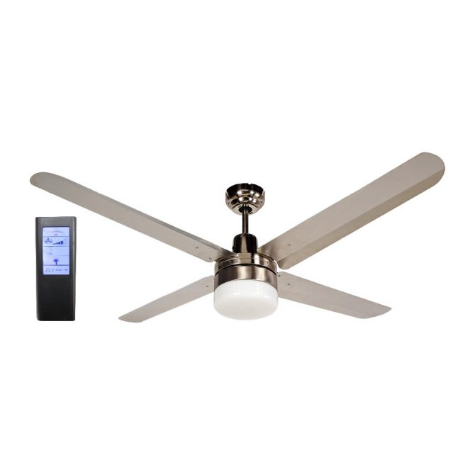 BLIZZARD52'' 1300mm 316SS Ceiling Fan with Light + Touch Pad BL Remote - BLIZZARD52''wl - TBLRem