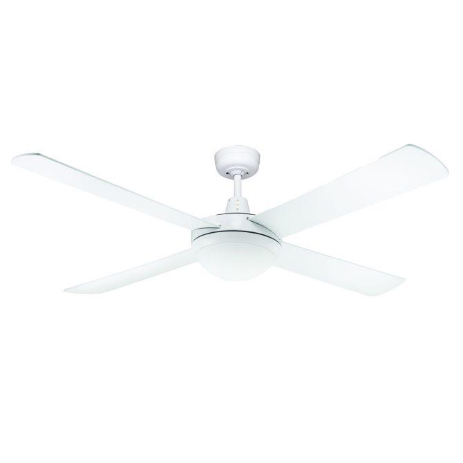 Genesis 52'' White Ceiling Fan 2xE27 Light - GEN52WL