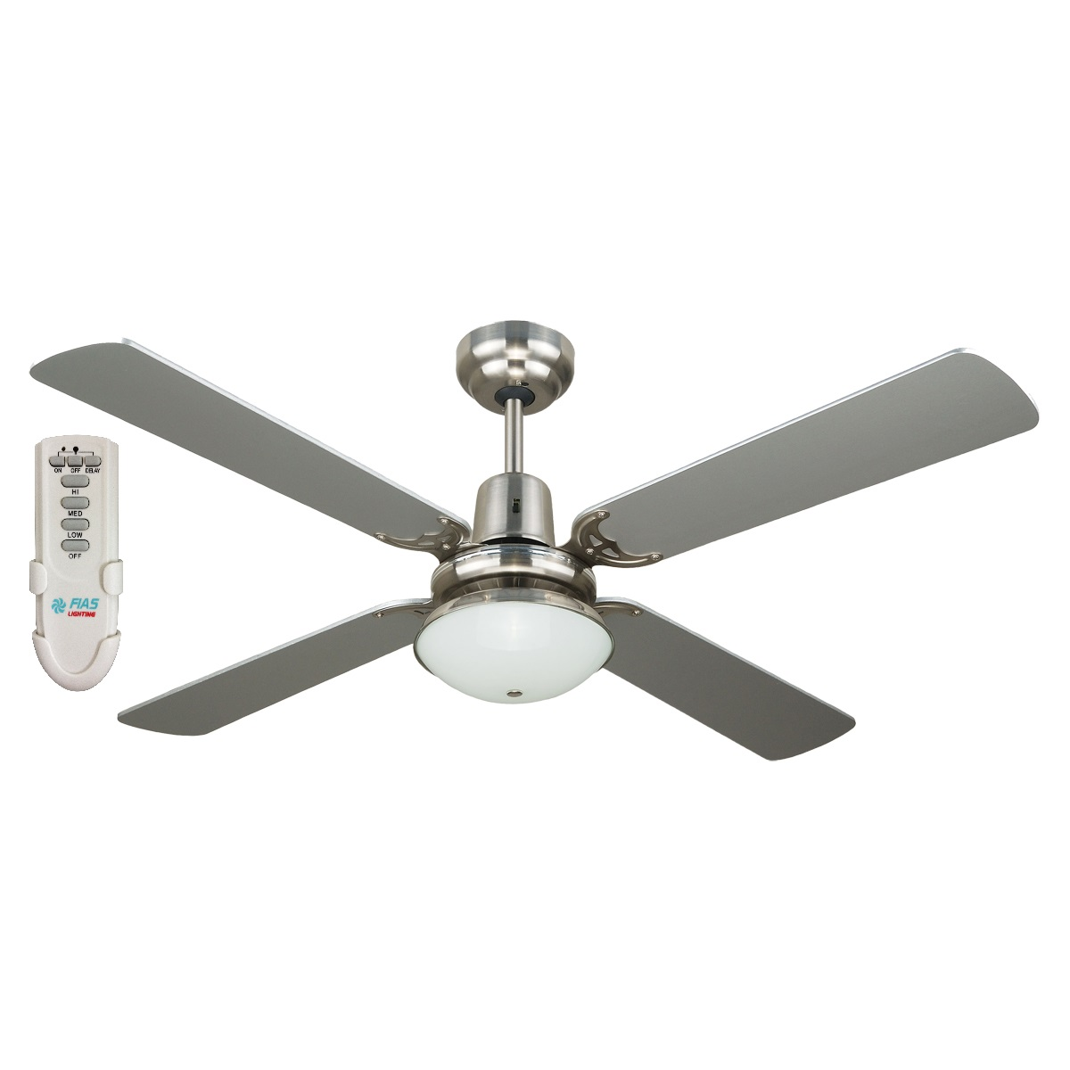Ramo 48 Fan Light Remote Silver Ramo48sil Jpg