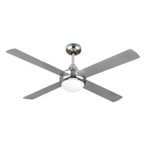 Revolve 48'' Ceiling Fan Brushed Chrome 2xE27 Light - REV48BL